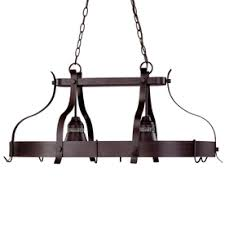 kitchen island pot rack lighting 22 12 in w 2 light antique bronze hardwired lighted pot rack with