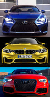 lexus rc f vs mustang gt 2015 supercoupe design shootout u2013 lexus rc f vs bmw m4 vs audi