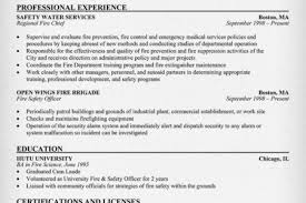 Firefighter Resume Objective Examples by Fire Resume Example Reentrycorps