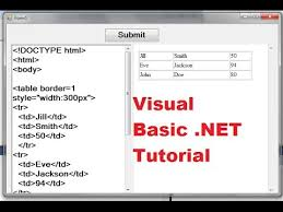 tutorial html editor visual basic net tutorial 31 how to make a simple html editor in