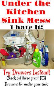 Under Sink Organizer Kitchen - way to organize under kitchen sink drawers