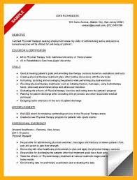 Physical Therapy Resume Sample by Physical Therapist Resume Template
