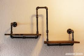 Industrial Home Decor Corner Pipe Shelf Industrial Chic Rustic Modern Pipe