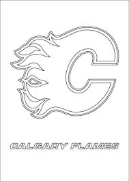 calgary flames logo coloring free printable coloring pages