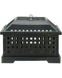 Square Firepit New Shopping Special Noble Luggage 27 Square Firepit Black