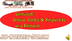 Actions Words For Resume Resume Action Verbs U0026 Keywords Using Action Verbs And Keywords In