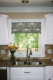 Kitchen Window Curtains Ideas by Plain Modern Kitchen Window Curtains Diy No Sew Faux Roman Shade