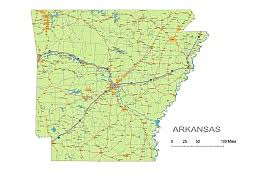 us map of arkansas preview of arkansas state vector road map