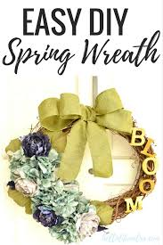 decorative wreaths for the home floral spring wreath