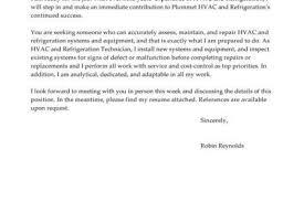 marine technician cover letter