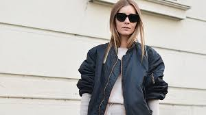 how to style a bomber jacket as seen by street style stars