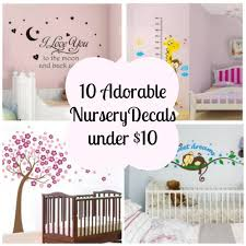 10 adorable nursery vinyl wall decals for under 10 00 coupon karma