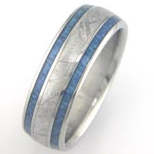 meteorite mens wedding band men s blue carbon fiber and titanium gibeon meteorite ring