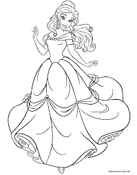 beauty and the beast coloring pages disney coloring book