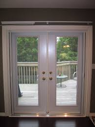 door retractable screen doors in white and green theme with white