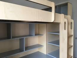 mezzanine ado bureau lit mezzanine sur mesure pour grand ado avec espace bureau et