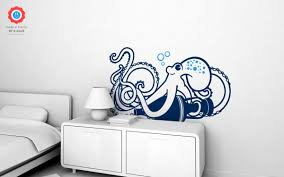 underwater world octopus wall decal nursery kids rooms wall octopus kids wall decals