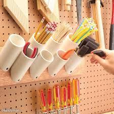pvc hacks drywall screws plumbing pipe and stir sticks