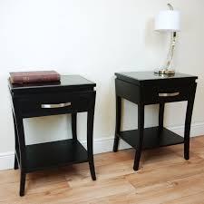 bedroom nightstand tall nightstands black glass nightstand