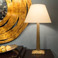 strie fluted column table lamp visual comfort luxe home