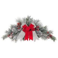 snowy pine swag wreaths garland the
