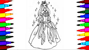 girls barbie princess coloring pages coloring barbie ken