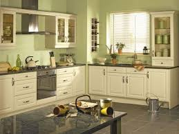 is green a kitchen color cabinet set up on the right just the counter top