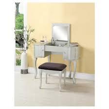 Silver Vanity Table Paloma Vanity Set Silver Linon Home Decor Target
