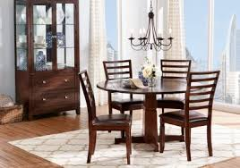 riverdale cherry 5 pc round dining room dining room sets dark wood