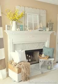 Nicely Decorated Homes Nicely Decorated Homes Coastal Fireplace Mantel Decor Coastal