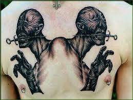 syringe demon horror chest piece tattoo design tattoos book