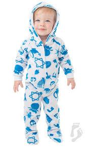 hanukkah baby hanukkah hoodie one infant hooded footed pajamas