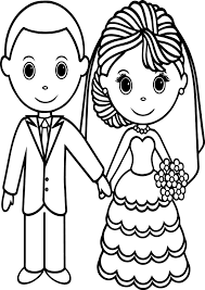 wedding couple coloring pages wecoloringpage