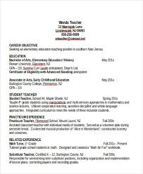 Math Tutor Resume Sample by Elementary Teacher Resumes Elementary Teacher Resume Examples