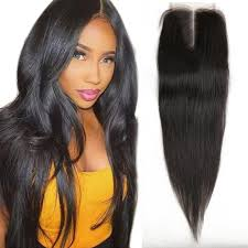 18 inch hair extensions 2018 front top invisible lace closure middle part