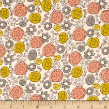 cloud 9 organic grey abbey floral whimsy mustard discount