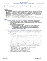 Data Analyst Resume Sample by Sample Resume For Qa Engineer For Qa Resume Sample Qa Engineer