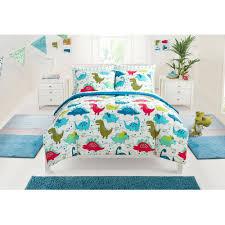 mainstays kids dino roar bed in a bag bedding set walmart com