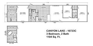 Cavco Floor Plans Floor Plan Cl 16763c Canyon Lake Single Section Cavco Homes Of
