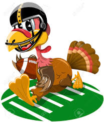 thanksgiving american thanksgiving turkey playing american football isolated royalty