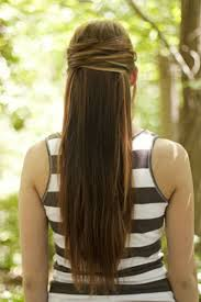 tag prom hairstyles for long hair half up half down straight