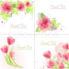 Wedding Flowers Background Set Of 4 Romantic Flower Backgrounds In Pink And White Colours
