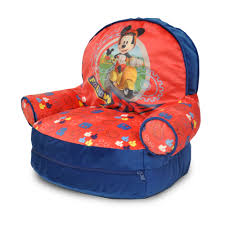 Mickey Mouse Furniture by Mickey Mouse Bean Bag Chair U0026 Sleeping Bag Set