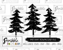 pine tree silhouette etsy