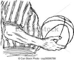 vector of illustration vector doodle hand drawn sketch of closeup