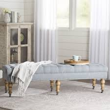 White Bench For Bedroom Lark Manor Ambrine Upholstered Bench U0026 Reviews Wayfair