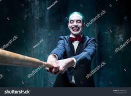 halloween selfie background bloody halloween theme crazy joker face stock photo 483568135