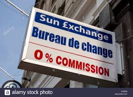 bureau de change commission bureau de change uk stock photo royalty free image