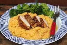 paleo pumpkin tahini sauce with spaghetti squash and tahini chicken