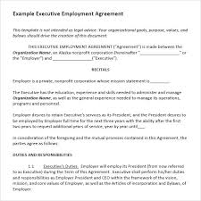 sample executive agreement 5 documents in pdf word